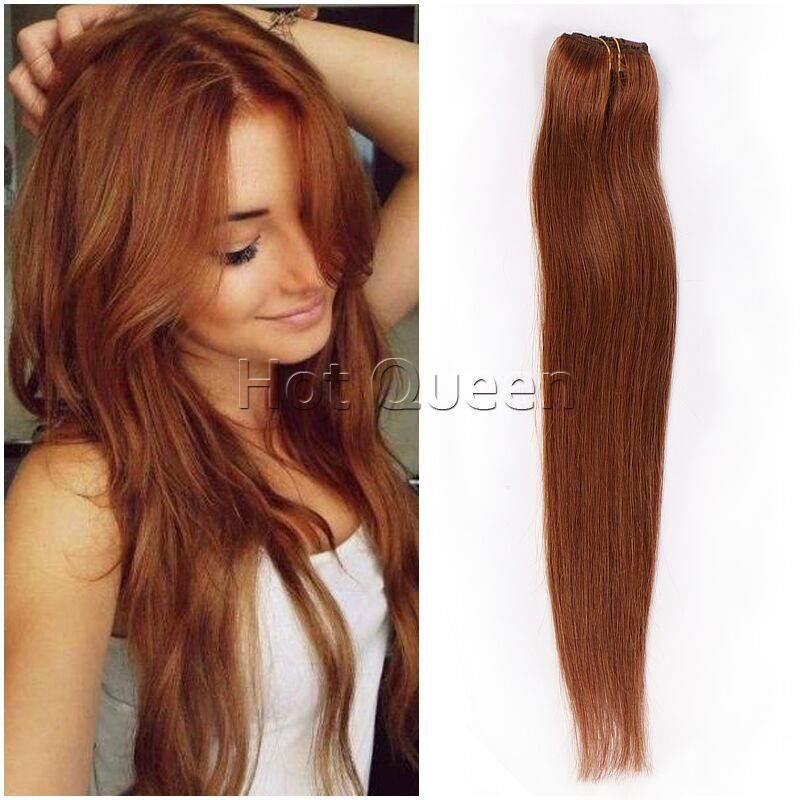 6a Grade Brazilian Remy Human Hair Straight Clip In Human Hair
