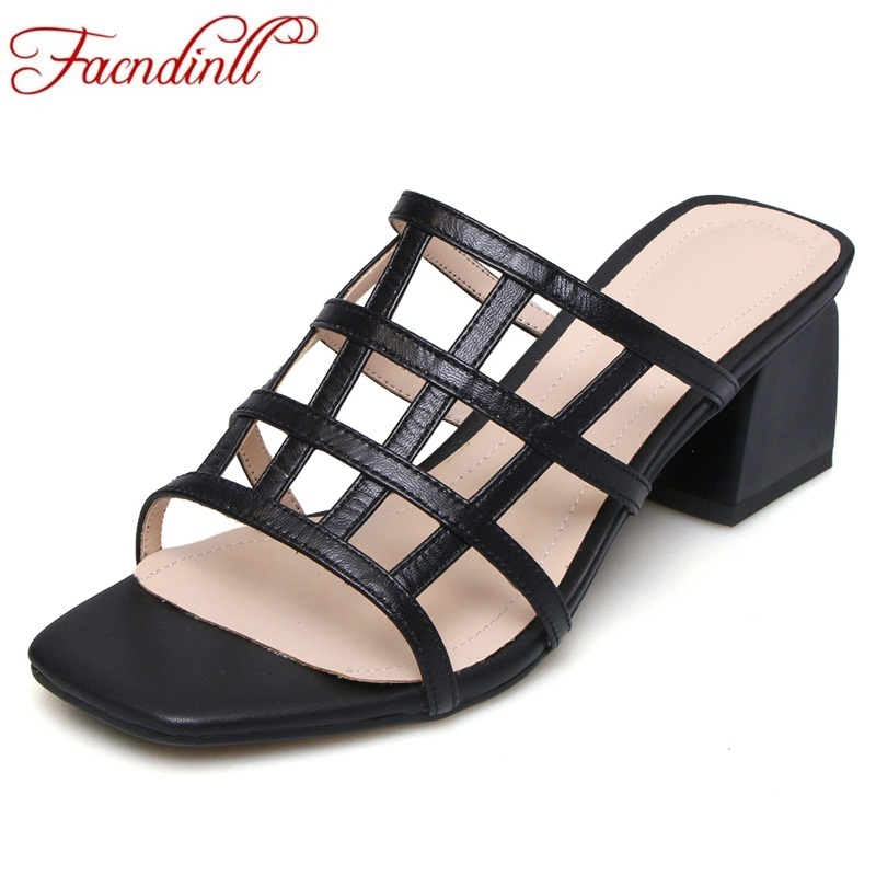 FACNDINLL fashion sheep leather summer shoes woman gladiator sandals square heel shoes sexy open toe women casual dress slipper sandals new summer 2017 basic shoes woman open back strap sandal square heel fashion beige black 35 40 free shipping bassiriana