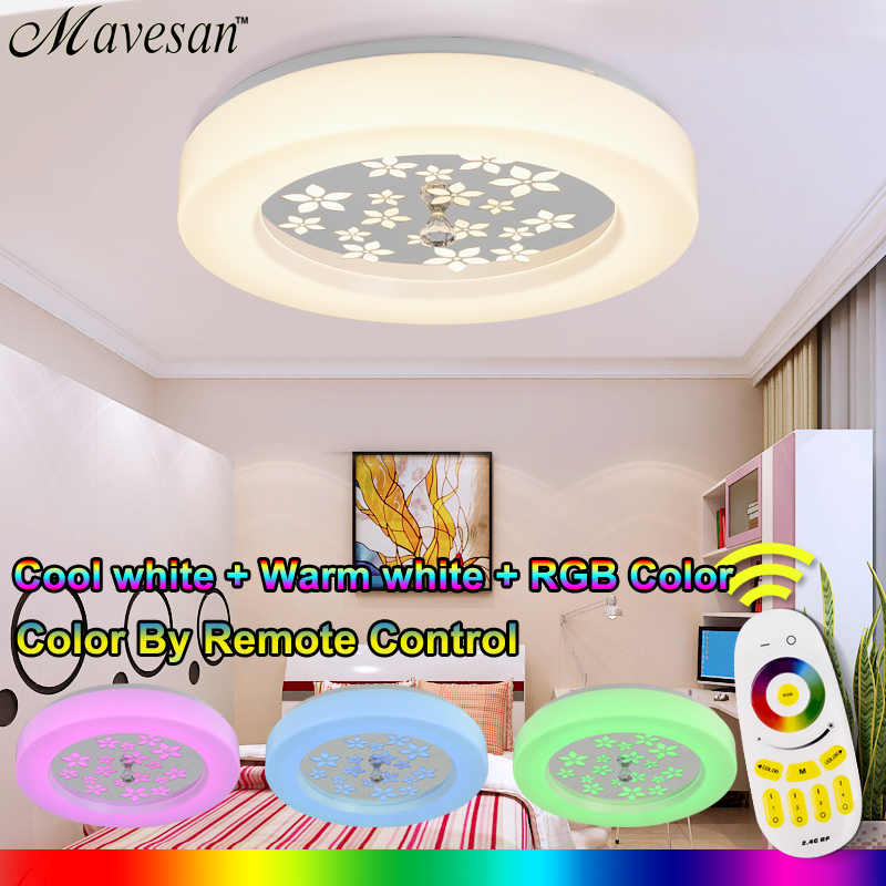 Led Round Ceiling Lamps For Bedroom Balcony Remote Control Modern RGB Lights Living Room Light Fixtures