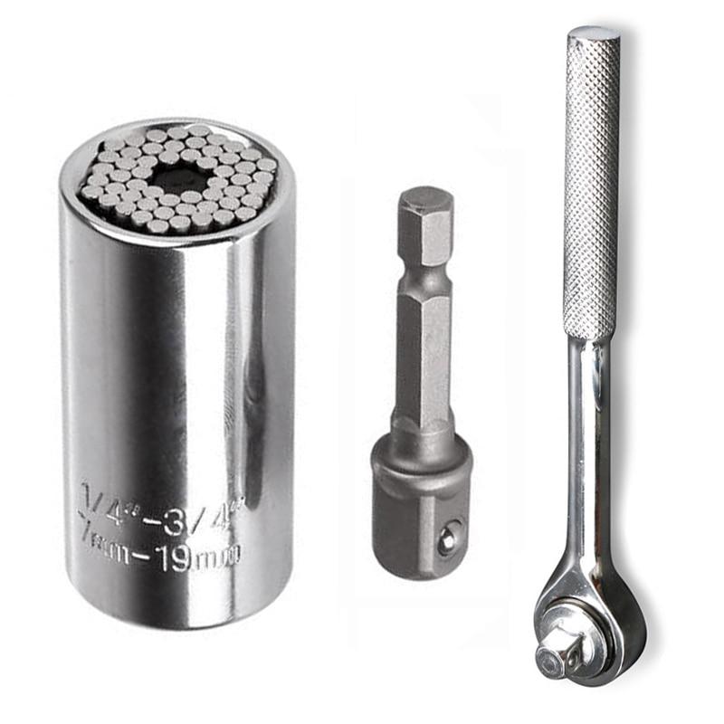 7-19mm Universal Socket Wrench Torque Sleeve Set Socket Sleeve Ratchet Spanner Power Drill Grip Bushing Hand Tools Kit(China)