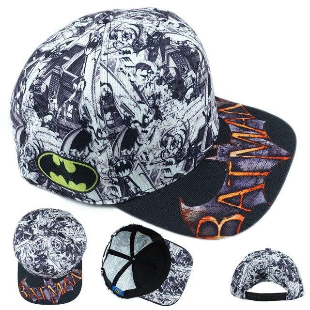 30cd0be9150 Superhero Batman Hat Cotton Baseball Snapback Caps Adjustable Hip Hop Hats  For Adult Boys Girls Cosplay