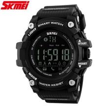 SKMEI 1227 Hommes De Mode podomètre Montre Automatique étanche choc armée militaire montre-bracelet top qualité célèbre bluetooth horloge