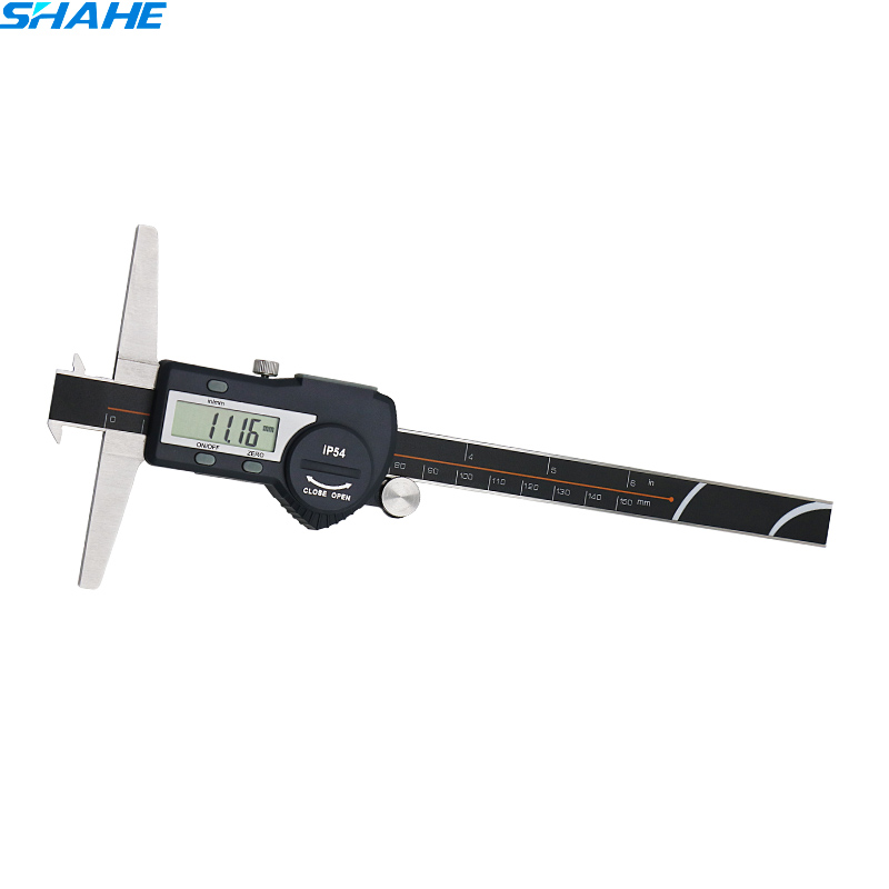 150 mm 6 inch lcd digital electronic vernier caliper stainless steel double hooks depth calipers paquimetro