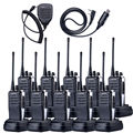 10X baofeng bf-888s Walkie Talkie BF-888S NKTECH V1 + VS 5 W 16 Canales 50 Transceptor CTCSS + Micrófono Altavoz + Cable