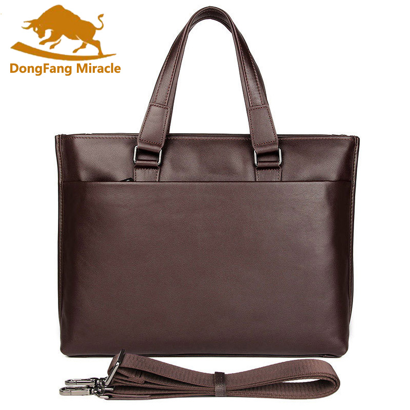 2019 Men Retro Briefcase Business Shoulder Bag Genuine Leather Handbag Bags Leather Laptop Messenger Bags Men's Travel Bags