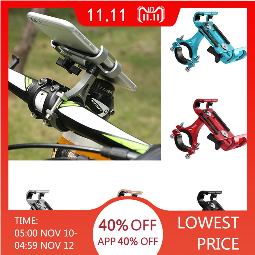 Outdoor Sport MTB Cycling Road Bike Phone Holder Aluminum Alloy 360 Degree Rotation Bicycle Mobile Phone Holder Bike Accessories купить в Москве 2019