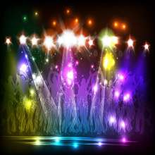 Diodo Emissor de Luz colorida Colorido discoteca Palco pano de Fundo de Vinil de Alta qualidade de impressão Computador pano de fundo da foto da parede