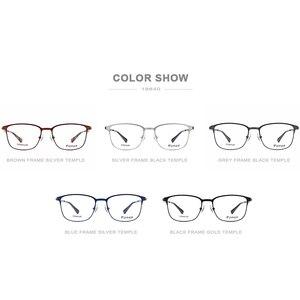 Image 5 - FONEX سبائك النظارات الإطار النساء الجولة وصفة النظارات الرجال Vintage قصر النظر إطارات البصرية الكورية بدون مسامير نظارات