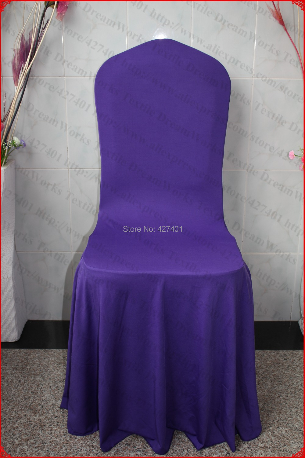 lycra chair covers nz posh and bows dark purple elegant pleated swag spandex cover backdrop for wedding party banquet home decorations in from garden