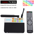 CSA93 3G/32G Android 6.0 Tv Box Amlogic S912 2G/16G 1G/8G Smart Media jogador 2.4G/5.8G Dupla WiFi BT4.0 HDMI 2.0 UHD 4 K 2 K Caixa de Tv