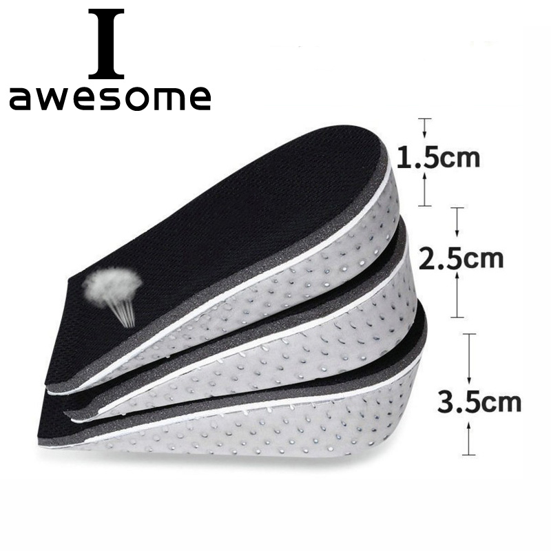 Unisex Adjustable Insole 1 Pair 1.5cm-3.5cm Height Increase Insoles Memory Foam Lifts Inserts Higher Shoes Pads Shoe Cushion