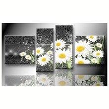 Diamant malerei blumen weiße blumen bilder von 5 stücke platz kreuzstich hand home dekorative relative geschenke W9 47 B042
