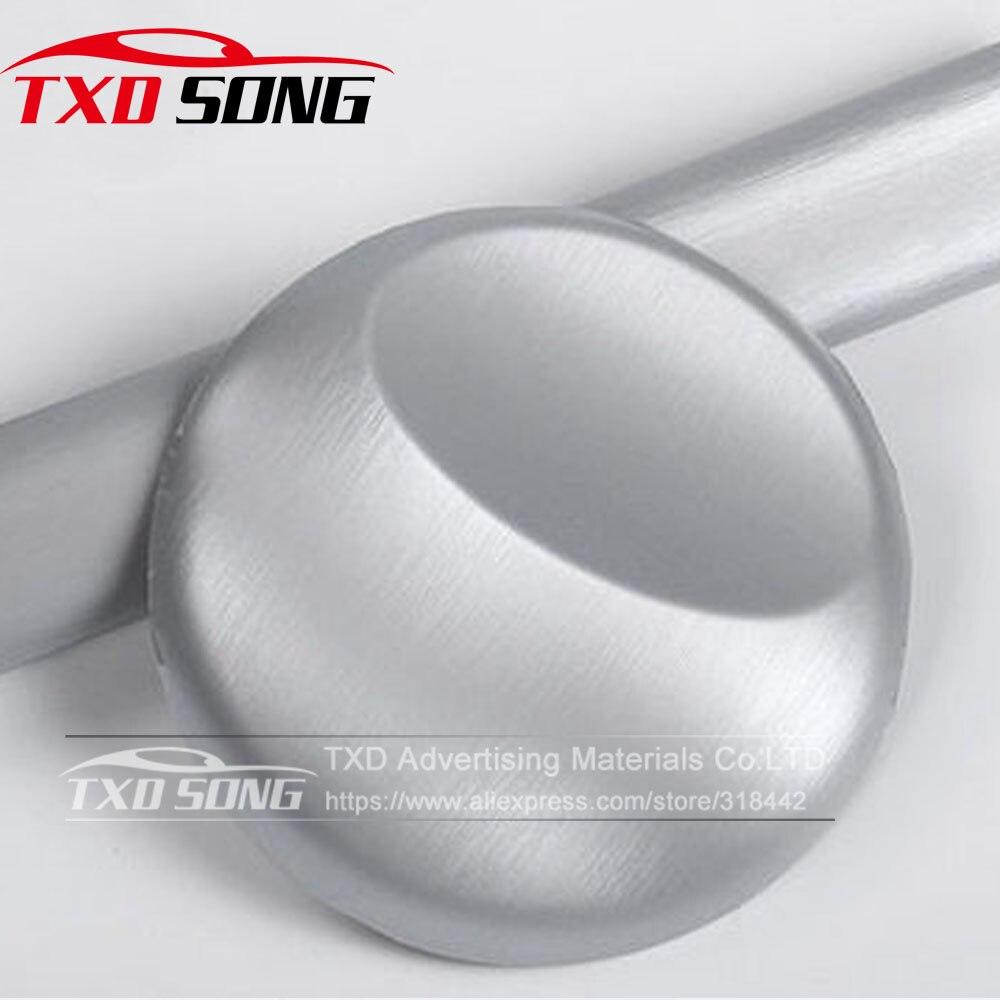 Cay Styling Grau grau Metallic Gebürstetem Aluminium Vinyl Metall vinyl auto Wrap Film auto aufkleber Mit Größe: 10/20/30/40/50/60x152CM