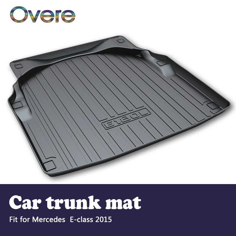 Overe 1Set Car Cargo rear trunk mat For Mercedes Benz E-class W212 2015 Boot Liner Styling Waterproof Anti-slip Mat Accessories car trunk mat cargo liner rear boot mat custom fit for mercedes benz e class w213 gla gla200 gla220 gla45 amg glc coupe