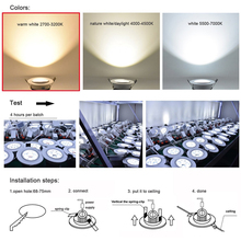 3W 5W 7W 9W 12W COB Dimmable LED Downlight 85-265V Recessed LED Spot Light Ceiling Lamp Light for Indoor Lighting white body