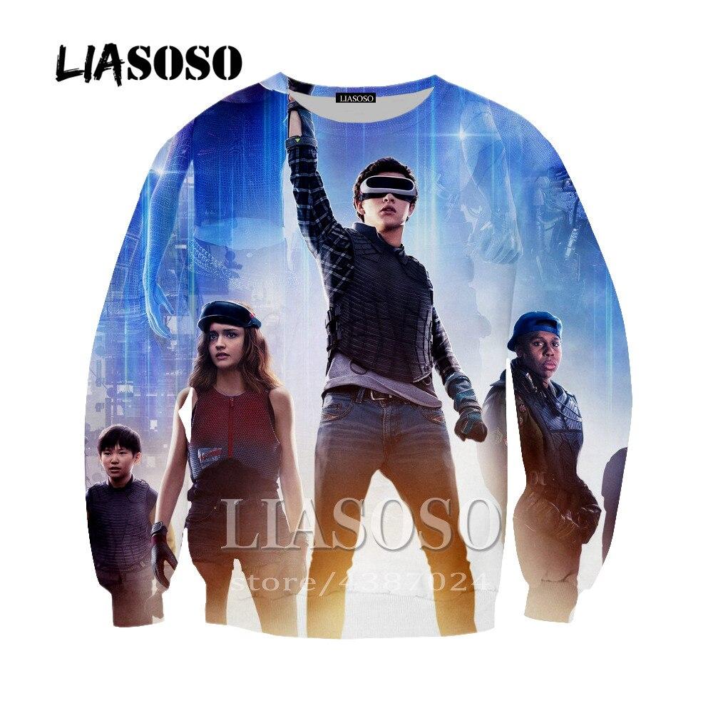 LIASOSO Newest 3D Printed Famous Movie Ready Player One Sweatshirts For Men/women Corgi Pug Sweatshirt/Hoodies Tracksuits Y246