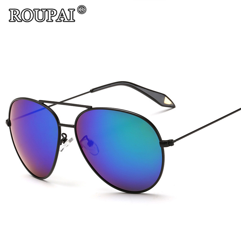 ROUPAI Vintage Women Steampunk Sunglasses Brand Design Men Polarized Sun Glasses Luxury Female Male Coating Mirrored Shades