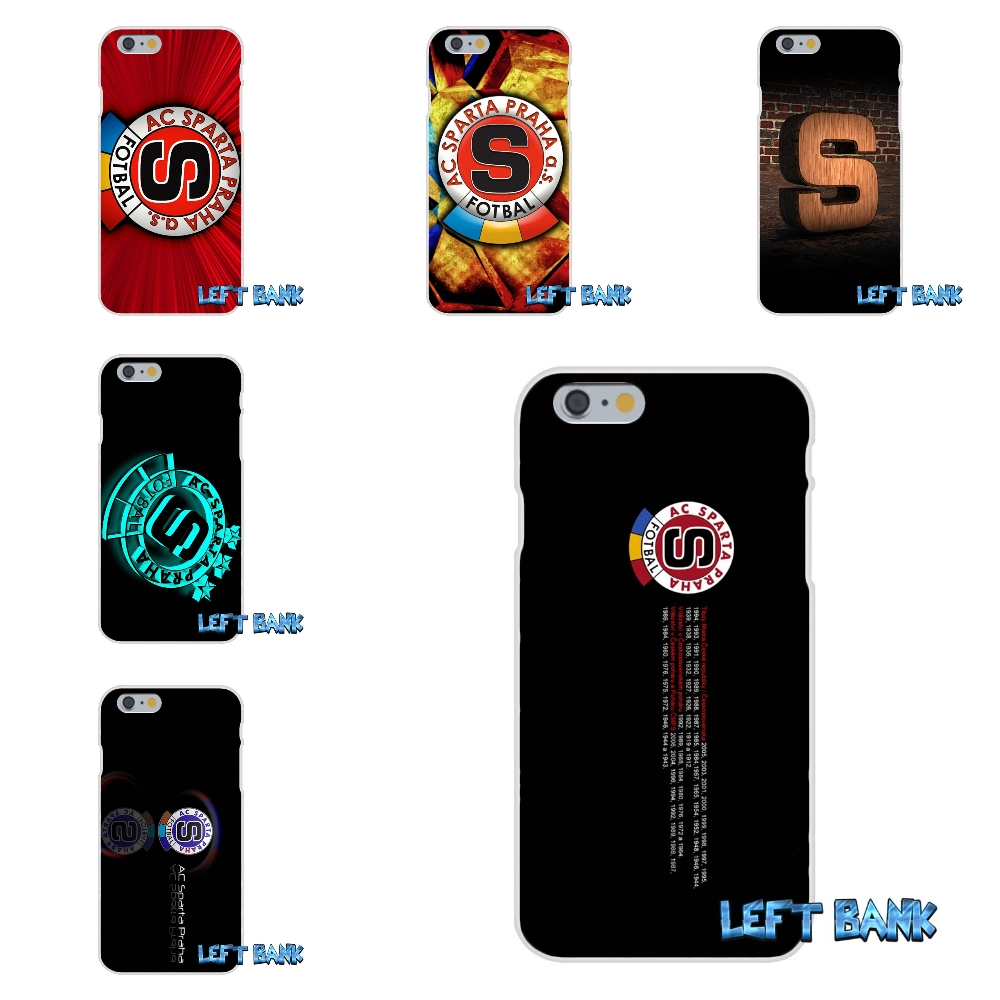 Painting Sparta Prague Football Logo Soft Silicone TPU Transparent Cover Case For iPhone 4 4S 5 5S 5C SE 6 6S 7 Plus