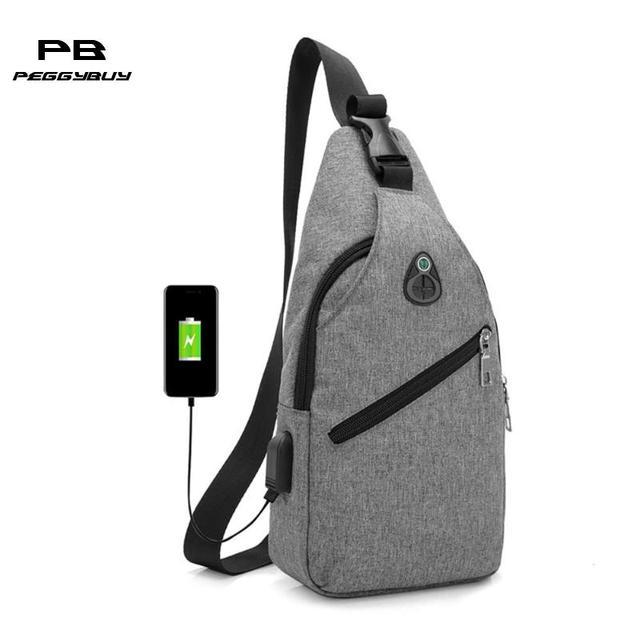 280a66861bcb Oxford Men Chest Pack Single Shoulder Strap Back Bag USB Charge Crossbody  Bags for Women Sling Shoulderbag Back Pack Travel Tote