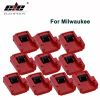 ELE ELEOPTION Großhandel 10x DC 12 V USB Adapter M18 für Milwaukee 49-24-2371 Li-Ion Akku Power quelle
