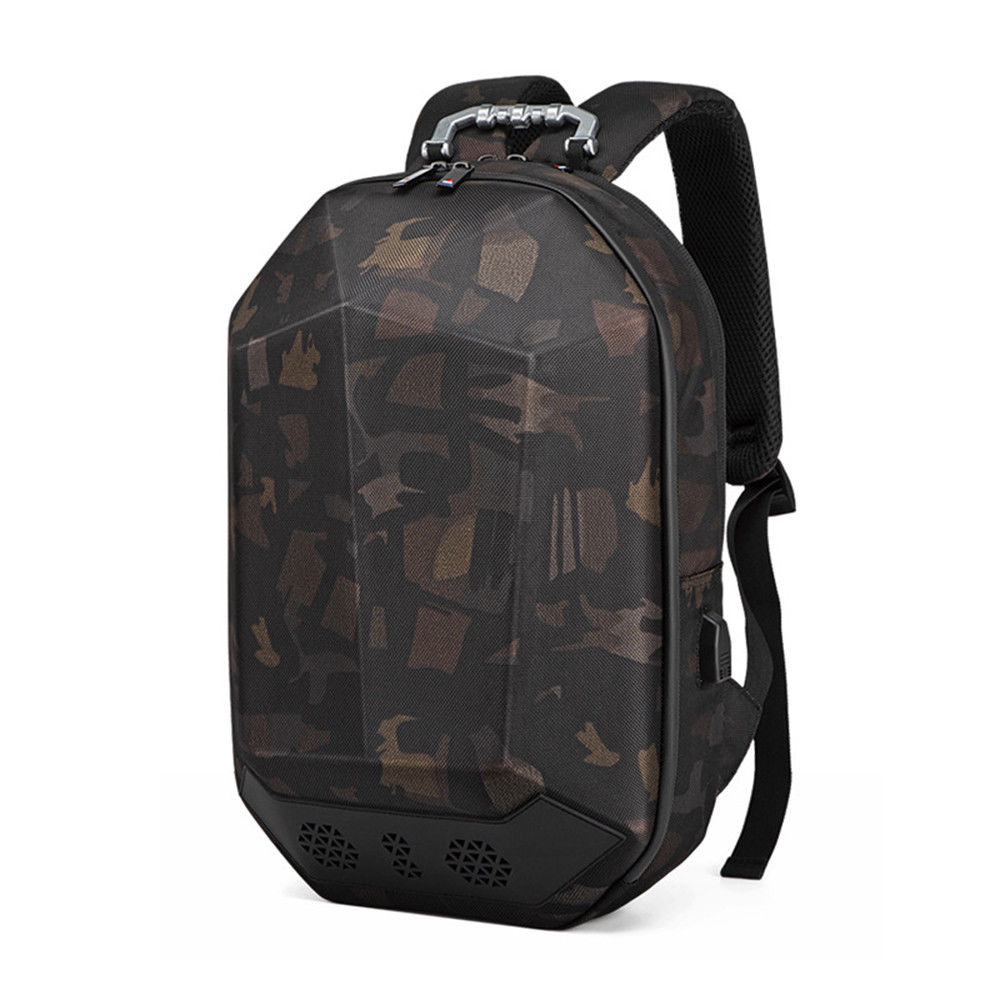 Geek Backpack USB Charging Bluetooth Music Bags camo 2