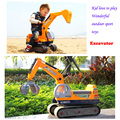 Large size excavator toys for kids Manipulator toys kid sit on it  with Tire tracks and Safety hat remote control excavator toy
