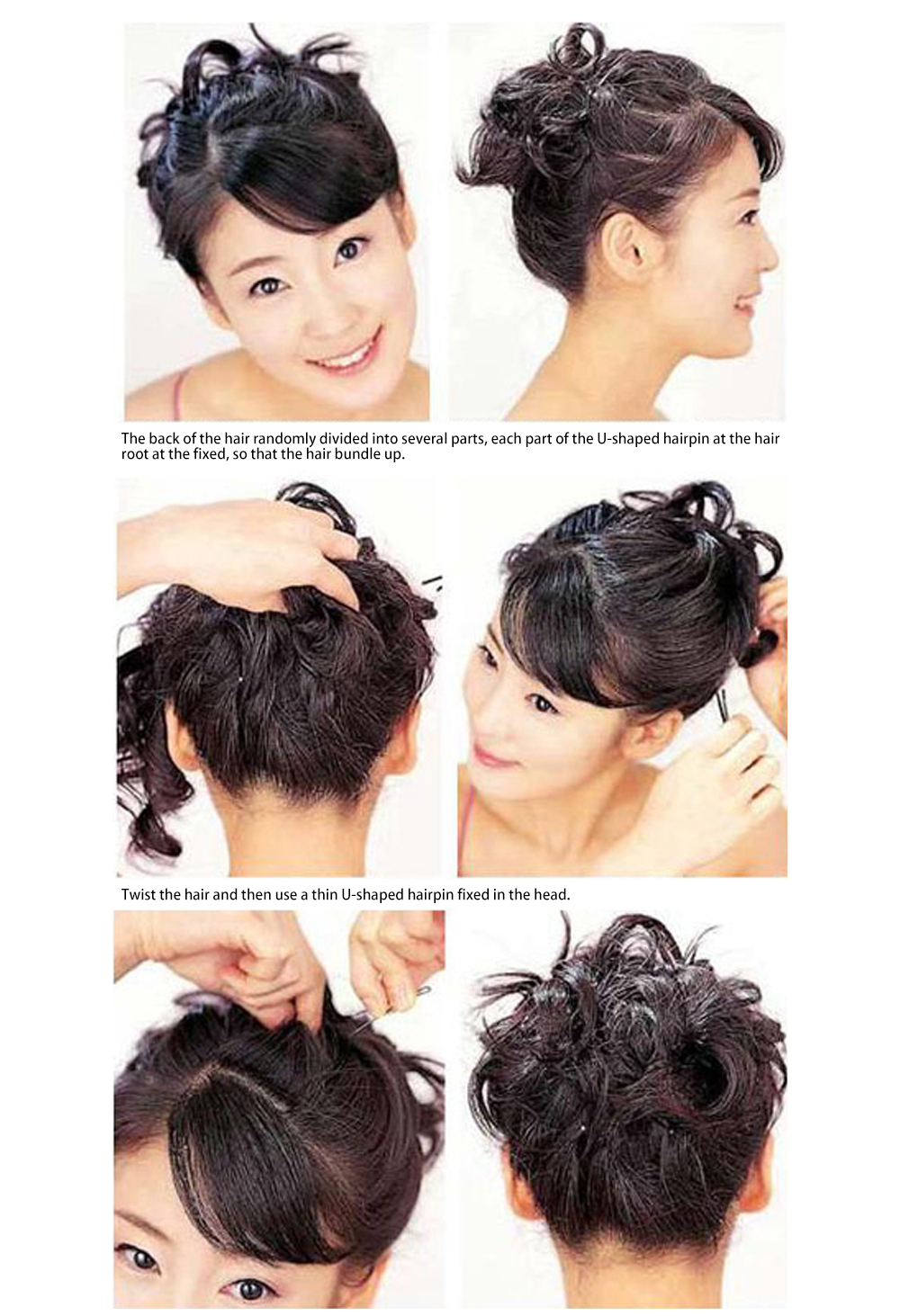 cabelo para hairstyle feminino up-fazer pinos de