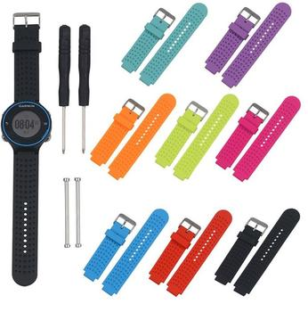 50pcs Silicone Replacement Watchband Wrist Watch Band Strap For Garmin Forerunner 230/235/630/220/620/735 Bands With Tools