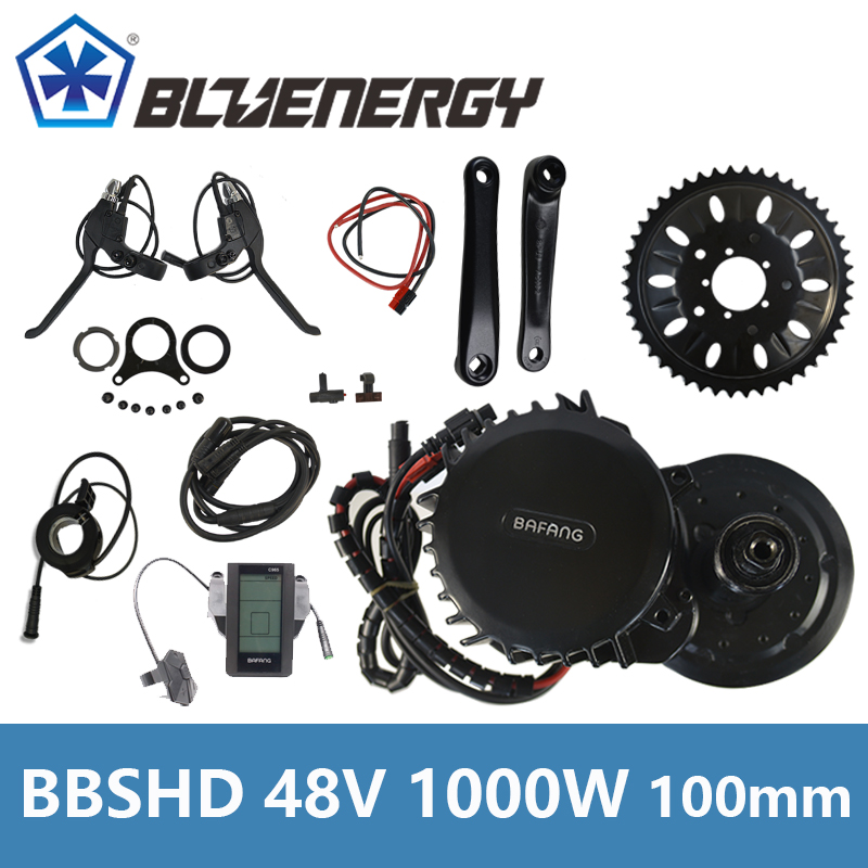 Bafang 8Fun BBSHD BBS03 Central Mid Drive Motor 48V 1000W 46T Chainwheel Ebike Kits With LCD C965 BB length 100mm free shipping electric bicycle 48v 1000w 8fun bafang bbs03 bbshd mid drive motor kit 68mm 100mm 120mm with c965 lcd display
