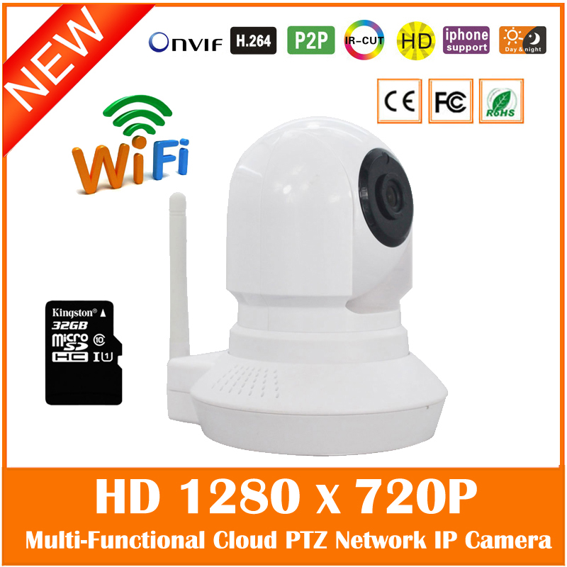 Baby Monitor Hd 720p Wifi Wireless Ip Camera 32g Tf Card Night Vision P2p Two Way Audio Video Surveillance Ptz Freeshipping Hot