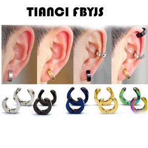 TIANCI FBYJS Mens Fake Clip On Earrings 1 Pairs