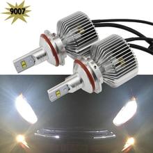 2pcs/lot 45W 6000K 4500LM 9007 HB5 LED Headlight bulb hi/lo high low dual beam car upgrade conversion bulb beam kit