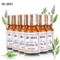 Famous brand oroaroma Lemon Sandalwood Patchouli Citronella Rose Musk ssential Oils Pack For Aromatherapy Spa Bath 10ml*6