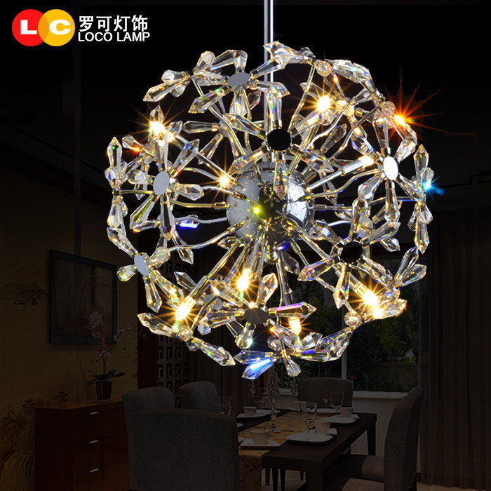 modern minimalist wrought iron crystal pendant light living room bedroom dining room lamps  hanging lighting k9 crystal chandelier lighting modern luxury crystal pendant chandelier light lighting for bedroom living room dining room light