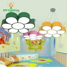 Colorful Creative Cartoon Children Lights LED Pendant Lights Girl's Bedroom Lights Warm Flowers Light Hanging Lamp
