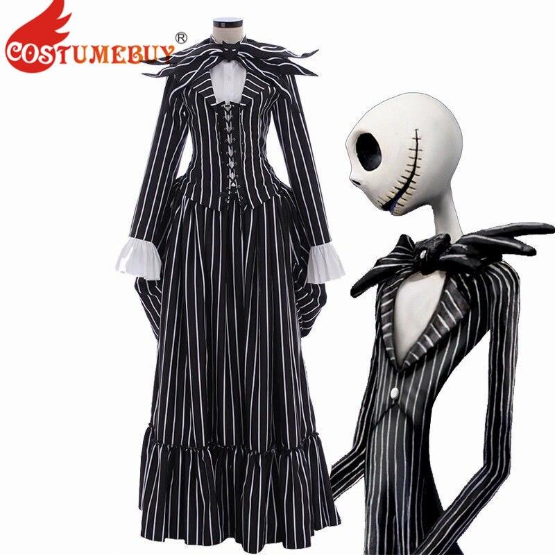 The Nightmare Before Christmas Jack Skellington Costume Stripe Suit Unisex Cool