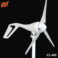 Free Shipping AC12V 24V 400W Wind Turbine Generator Small Windmill For Home Use CE RoHS Approval
