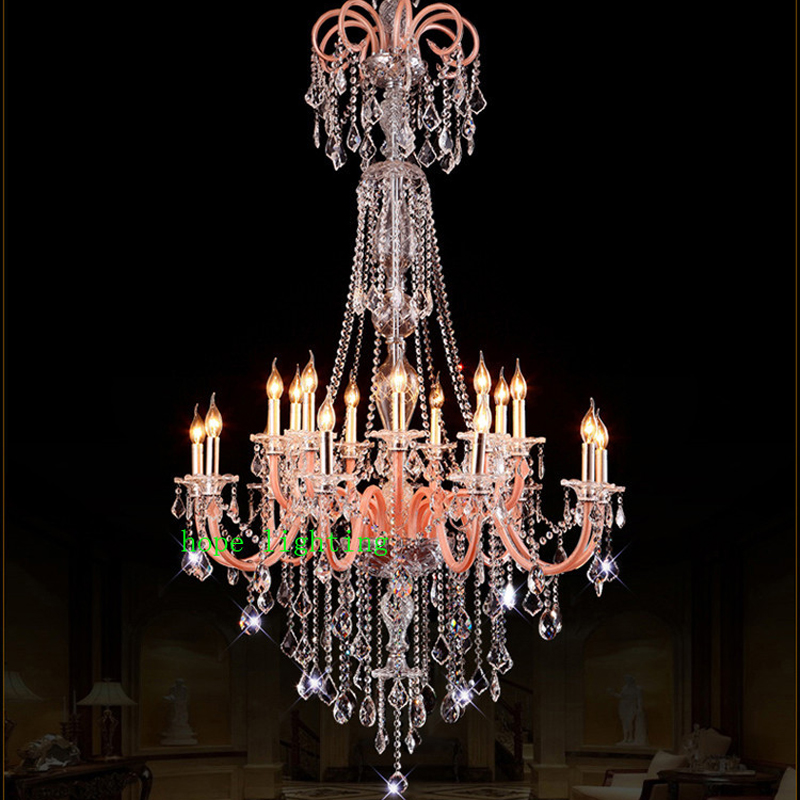 Luxury large European living room chandelier El Luxor Hotel lobby staircase crystal chandelier atmosphere restaurant LED lamps chandelier dome fashion fabric chandelier creative engineering lamps living room hotel club restaurant free shipping