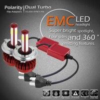 LED H4 Headlight Bulbs Car Light COB Chip 80W 8000LM 6000K 12V Automobiles LED Head Lamp