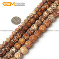 Natural Wood Texture Agate Beads For Jewelry Making 8-16mm 15inches DIY Jewellery Bracelet Necklace FreeShipping Wholesale Gem
