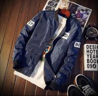 2019 New Brand PT1799 Autumn Bomber jacket Men Fashion Hip Hop Stand Collar Pilot Jacket for Men Baseball Uniform Coat