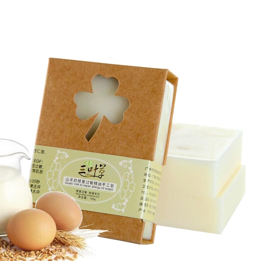 цена на 100g Handmade Goat Milk Honey Soap Allergy Repair Shrink Pores anti Acne Oil Soap Cold Process Bar Soap for Sensitive Skin