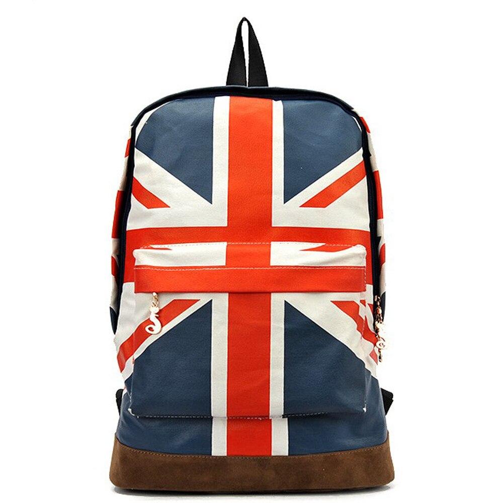British Flag Style Backpack 2017 New UK England Flag Backpack Canvas School Bags Trendy Bolsas Mochilas