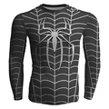 Spiderman Traje preto Camiseta de Manga Longa Homens T-Shirt Compressão Aranha Homem Mulher Comic Cosplay Tshirt