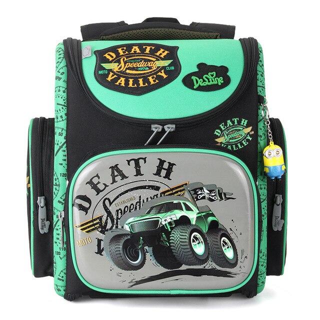 Delune brand 3D Children s Backpack for boys   girls Waterproof Orthopedic  Foldable school Backpack Bag EVA Mochila Infantil 298f44746ec72