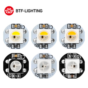 10-200pcs WS2812B LED chip 4pin With Heatsink (10mm*3mm) Black/White PCB SMD5050 RGB with WS2811 IC bult in SK6812RGBW DC5V
