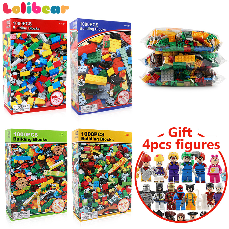 1000Pcs Creative Building Blocks Designer Kids DIY Bricks Compatible with City Brands Blocks Educational Toys for Children Gifts 1000pcs bulk bricks educational children toy compatible with major brand blocks 10 colors diy building blocks creative bricks
