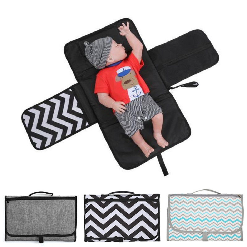Portable Diaper Changing Pad For Newborn Foldable Clean Hands Changing Station Soft Flexible Travel Mat For Baby