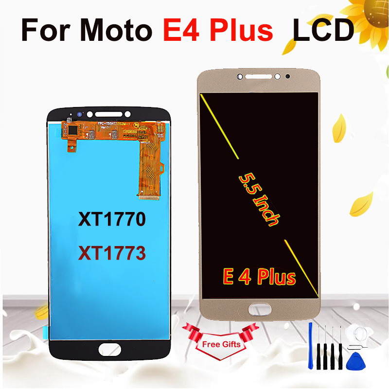 5.5 inch LCD for Motorola <font><b>Moto</b></font> <font><b>E4</b></font> <font><b>Plus</b></font> <font><b>XT1770</b></font> XT1773 LCD <font><b>Display</b></font> Touch Digitizer Assembly for <font><b>MOTO</b></font> <font><b>E4</b></font> <font><b>plus</b></font> screen image