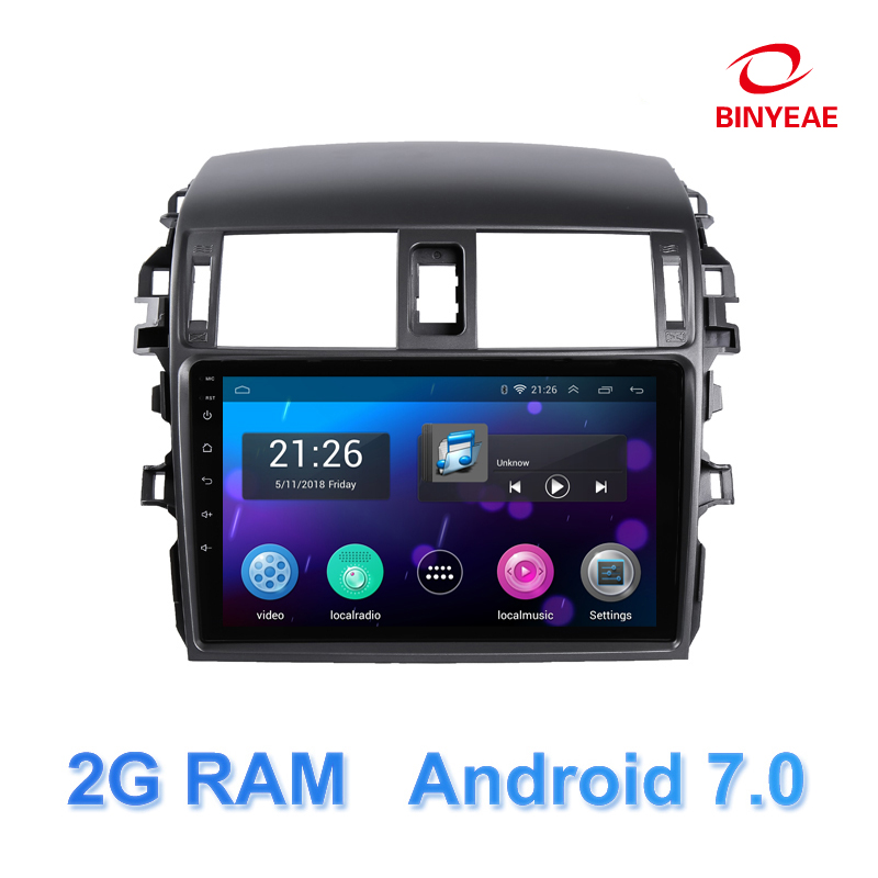 9 android 7.0 car dvd for Toyota camry Toyota Corolla 2007-2011 radio with car stereo bluetooth wifi gps multimedia player DVD